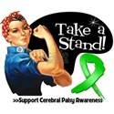 Cerebral Palsy Stand White T-Shirt