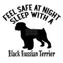 Sleep With Black Russian Terrier Dog White T-Shirt
