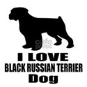 I Love Black Russian Terrie Shirt