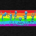 DANCING GAY ALIENS RAINBOW ART T-Shirt