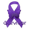 Purple Ribbon: Survivor Women's T-Shirt