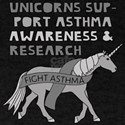 Unicorns Support Asthma Awareness T-Shirt