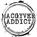 MacGyver Addict Stamp White T-Shirt