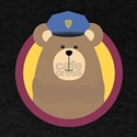 Police Officer Brown Bear in cirlce T-Shirt