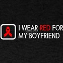 Red Ribbon: Red for my Boyfriend T-Shirt