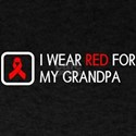 Red Ribbon: Red for my Grandpa T-Shirt