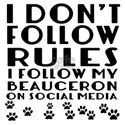 I Follow My Beauceron Dog Shirt