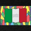 Italian Flag On Stained Glass T-Shirt