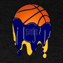 Basketball Team Colors Blue and Yellow Go T-Shirt