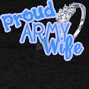 Proud Army Wife (Blue) T-Shirt