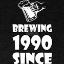 Brewing Since 1990 Beer Fathers Day Gift T-Shirt