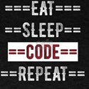 Eat Sleep Code Repeat Gift for Coders and T-Shirt