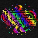 Colorful Happy New Year Confetti T-Shirt