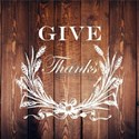 barnwood wheat wreath give thanks T-Shirt