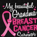 Beautiful Grandma Breast Cancer Survivor T-Shirt