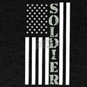 American USA Flag Soldier For Veterans T-Shirt