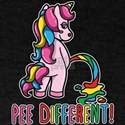 Gay Pride Unicorn Rainbow Flag Pee Differe T-Shirt