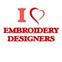 I love Embroidery Designers T-Shirt