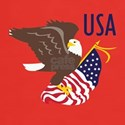 USA Eagle and Flag T-Shirt