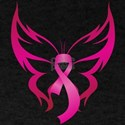 Pink Butterfly Ribbon Breast Cancer Awaren T-Shirt