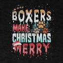 Christmas Dog Boxers Make Christmas Merry T-Shirt