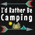 I'd Rather Be Camping RV Trailer Campi T-Shirt