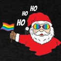 LGBT Santa Gay Rainbow Flag Christmas Holi T-Shirt