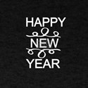 Happy New Year With Swirls Cute New Years T-Shirt