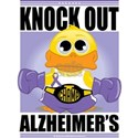 Knock-Out-Alzheimers White T-Shirt