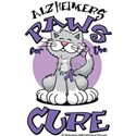 Alzheimers Paws For Cure White T-Shirt