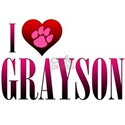 I Heart Grayson White T-Shirt