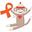 SOCK MONKEY ORANGE RIBBON AWARENESS TSHIRTS