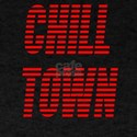 Chill Town (Red) Black T-Shirt
