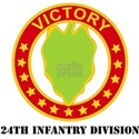 DUI - 24th Infantry Division with Text White T-Shi