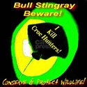 Bull Stingray Beware! I Kill Black T-Shirt