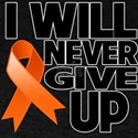 Never Give Up Multiple Sclerosis Dark T-Shirt