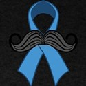 Prostate Awareness Ribbon Moustache T-Shirt