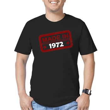 Stamped Made In 1972 Men's Dark Fitted T-Shirt