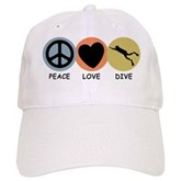 Peace Love Dive Cap