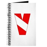 Scuba Flag Letter V Journal