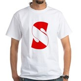 Scuba Flag Letter S White T-Shirt