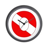 Scuba Flag Letter O Wall Clock