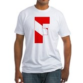 Scuba Flag Letter F Fitted T-Shirt