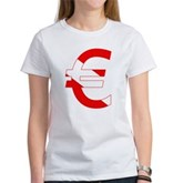Scuba Flag Euro Sign Women's T-Shirt