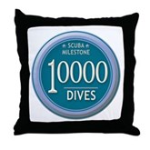 10000 Dives Milestone Throw Pillow