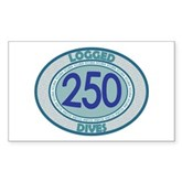 250 Logged Dives Rectangle Sticker