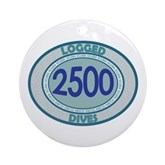 2500 Logged Dives Ornament (Round)