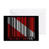 Barcode Dive Flag Greeting Card