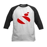 Thought Bubble Dive Flag Kids Baseball Jersey