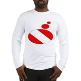 Thought Bubble Dive Flag Long Sleeve T-Shirt